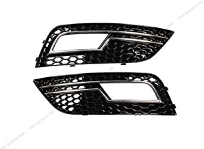 Baked Black Honeycomb Left & Right Front Lower Bumper Side Vent Grill ABS Plastic Fog Light Cover Grill Grille For Audi A4 B9 S4 RS4 2013-2015