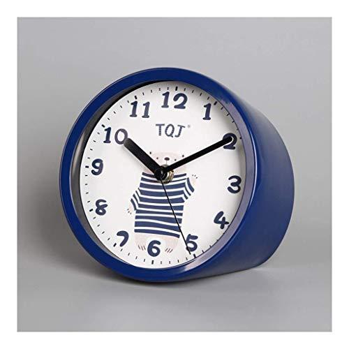 Yxxc -Reloj de Soporte Reloj de Mesa Personalidad Creativo Silencio Sin tictac Escritorio de Cuarzo Mesita de Noche Moda Reloj de Mesa Reloj de Mesa Hogar