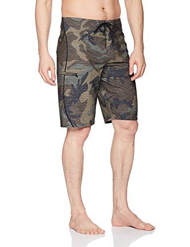 O'Neill Men's Hyperfreak S-Seam Quick Dry Stretch Boardshort, camo, 29