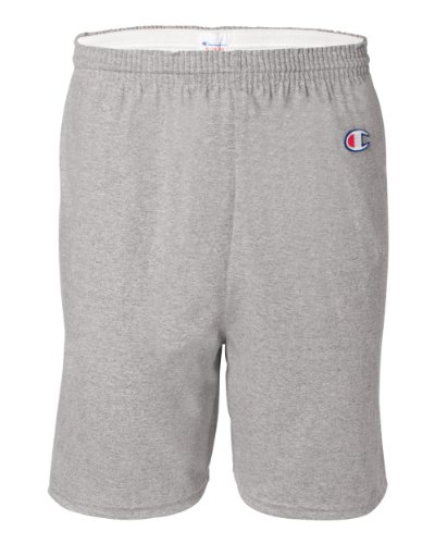 Champion Men's 6-Inch Oxford Gray Cotton Jersey Shorts - Medium
