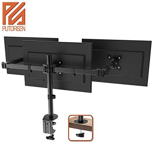 PUTORSEN® Monitor Tischhalterung für 3 Monitore 13