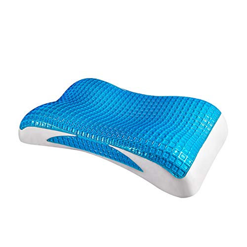 TYRIXEN Memory Foam Bettkissen Kühlgel Orthopädische ergonomische Kissen Tiefschlafkontur Halswirbel Superweiche Bequeme Schlafkissen