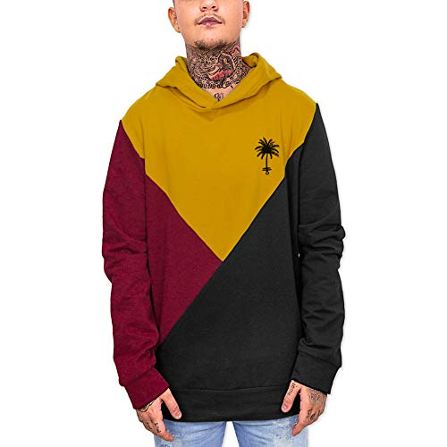 VIENTO Triangle Patch Palm Anchor Sudadera para Hombre (Negro, XX-Large)