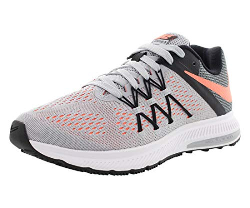 NIKE New Women's Zoom Winflo 3 Running Shoe Grey/Mango 6