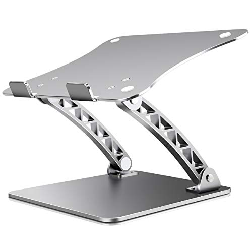 """B-Land Laptop Stand, Adjustable Laptop Holder Laptop Riser Aluminum Notebook Computer Holder Stand Compatible with MacBook, Air, Pro, Dell XPS, Samsung, Lenovo, Alienware All Laptops 11-17"""""""