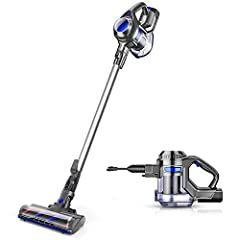 [Super Long-lasting Battery & Powerful Suction]: Outstanding 20-35mins CORDLESS running time ensures thorough cleaning all around the house. The upgrade version provides 120-watt powerful suction to meet every cleaning demands, picks up debris and du...