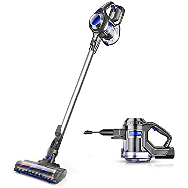 MOOSOO Cordless Vacuum 10Kpa Powerful Suction 4 in 1 Stick Handheld Vacuum Cleaner for Home Hard Floor Carpet Car Pet - XL-618A, Lightweight
