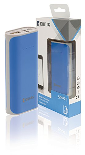 König Notebook Power Bank 5000mAh USB blau
