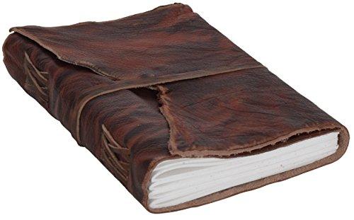 Gusti Buch Leder - Alice Notizblock Notizbuch DIN A5 Braun Leder