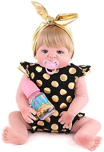 Baby-Puppen-Geschenkset Layette Rewborn Nursery Baby Alive Puppe Realistisch Rollenspiel Rollenspiel Kinder Spielzeug Niedliche Neugeborene Baby mädchen Puppe Lebensecht Mit Kleidung Haarschmuck Fütte