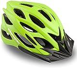Casco Bicicleta/Casco Bicic con Luz LED,Certificado CE,Casco Ciclismo con Visera y Forro Desmontable...