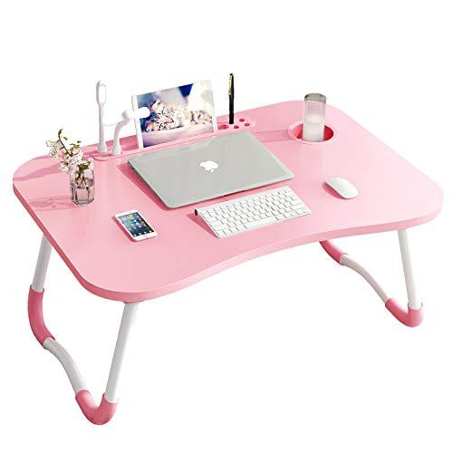RUNQIAN - Mesa de cama para ordenador portátil, escritorio de pie para...