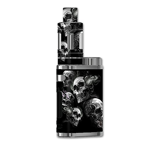 Skin Decal Vinyl Wrap for eLeaf iStick Pico 75w TC Vape Mod/Glowing Skulls in Smoke