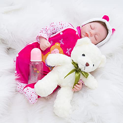 FKYUYU Lifelike Reborn Baby Dolls, 22 Inch Real Silicone Baby - with Simulation Baby Look Baby Doll - Give Kids Unforgettable Memory