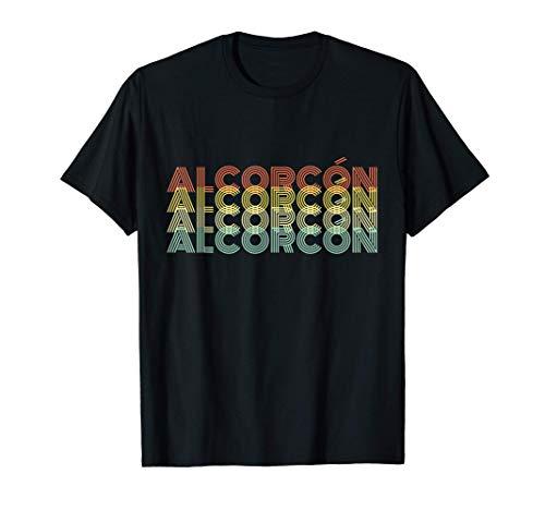 Alcorcón Retro Inicio Vintage Ciudad Natal Camiseta