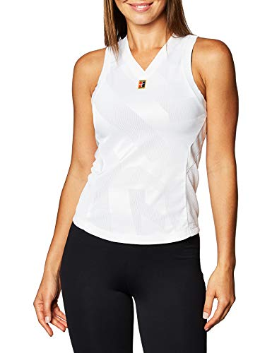 Nike Damen Court Dri-Fit Slam Tanktop, White, M