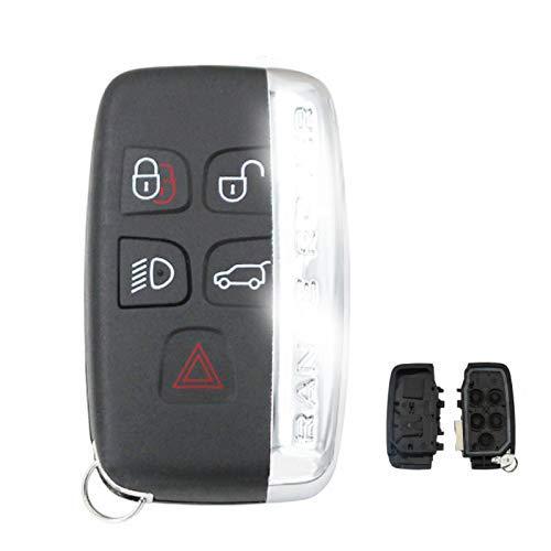 Custodia a conchiglia chiave per auto a 5 pulsanti per Land Rover Discovery 4 / Freelander per Range...