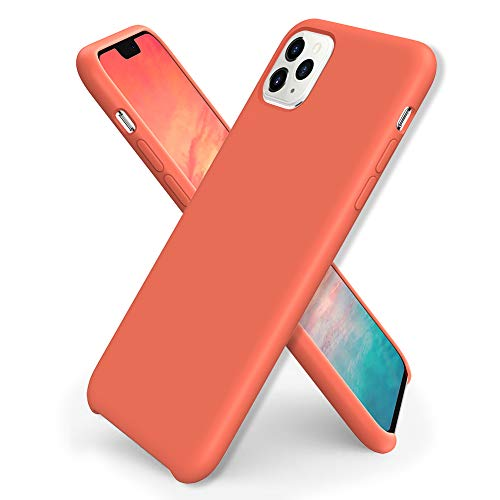 ORNARTO iPhone 11 Pro Max Silikon Case, Hülle Ultra Dünne Flüssig Silikon Handyhülle Schutz für Apple iPhone 11 Pro Max (2019) 6,5 Zoll -Living Coral