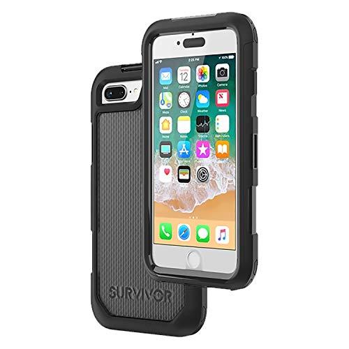 Cellet - Funda protectora para teléfono móvil y protector de pantalla integrado por Griffin Survivor Extreme Case Cover diseñado para iPhone 8 Plus 7 Plus 6 Plus
