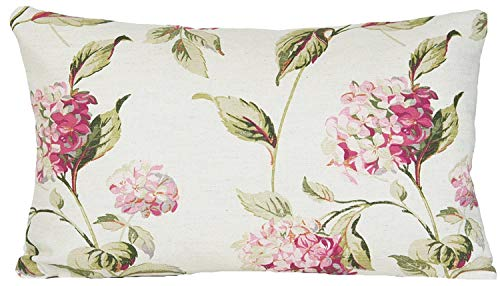 not Laura Ashley Pink Decorative Pillow Throw Case Hydrangea Floral Cushion Cover Oblong Fundas para Almohada (40cmx60cm)