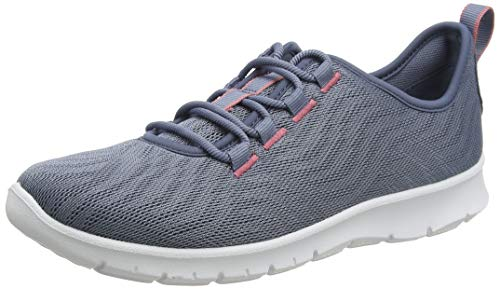 Clarks Damen Step Allena Go Sneaker Niedrig, Beige (Blue Grey Blue Grey), 35.5 EU