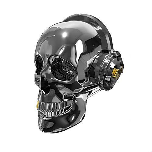 JHMAOYI Lautsprecher Neue Welle Schädel Drahtlose Bluetooth Lautsprecher Outdoor Tragbare Subwoofer Kreative Leuchtende Bluetooth Audio
