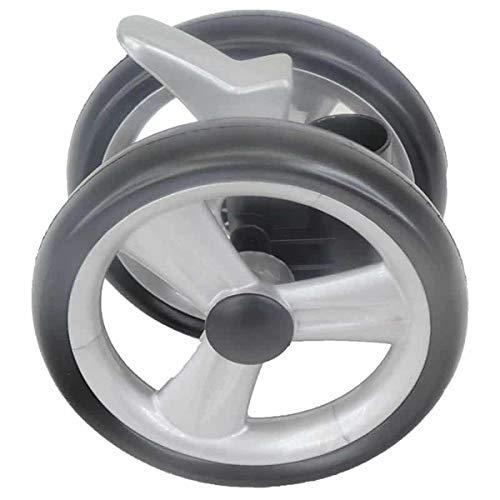 Peg Perego Doppel Vorder Rad schwarz für Pliko P3 komplett und Pliko Switch ab 2007-2010