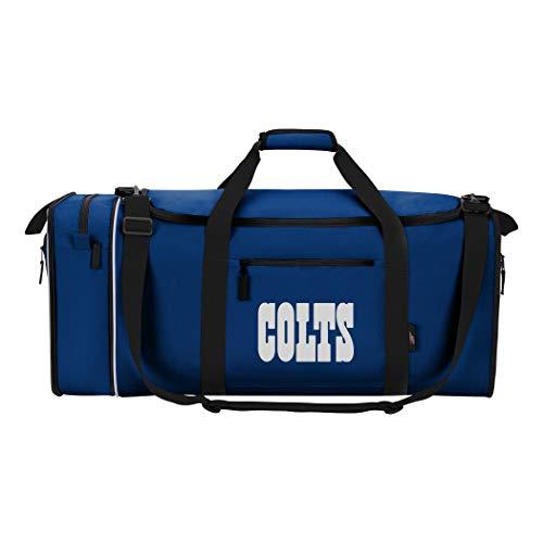 NFL Indianapolis Colts NFL Steal Duffel, Marineblau, Maße 71,1 cm in der Länge, 27,9 cm in der Breite und 30,5 cm in der Höhe