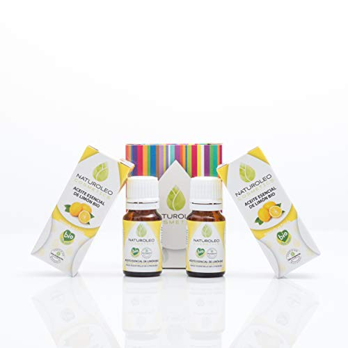 Naturoleo Cosmetics BIO - Aceite Esencial de Limón, 10 + 10 ml