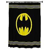 Warner Bros Batman Logo Mikrofaser Duschvorhang, 178 x 183 cm