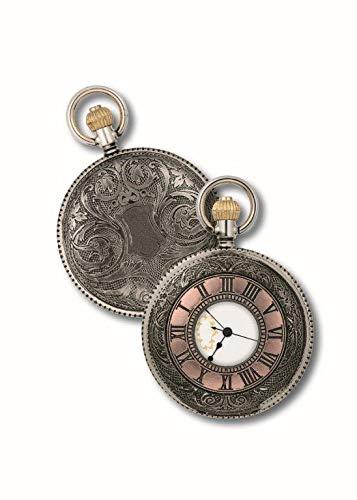 OPO 10 - Reloj de Bolsillo con Gousset, réplica de un Reloj Real de antaño: Dimensiones 9.8x12.3x2.3H (Ref: 201)