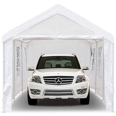 Peppermint Store 10'x10' Carport Garage Car Shelter Canopy Party Tent Sidewall with Windows White #PWSE