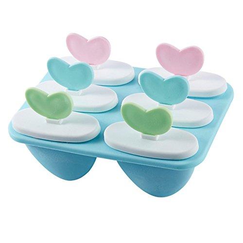 OFKPO Moules à Glace, Heart Shaped Moule à la Crème Glacée, Glacière DIY Fait Maison et Moule Sorbet,Couleur aléatoire