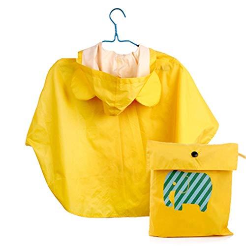 AWYJ Raincoat pour Enfants Raincoat Riding Mode for Enfants Cartoon Poncho Mignon Raincoat Cape Poncho for Les Enfants Enfants Veste imperméable tempête Pause (Color : Yellow, Size : S)