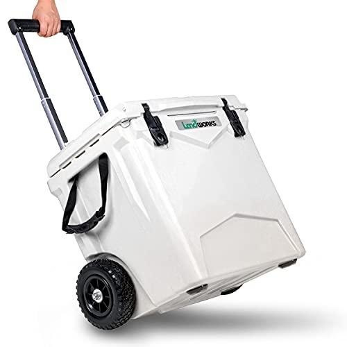 Landworks Wheeled Ice Cooler Rotomolded 45QT Upto 10 Day Ice Retention...