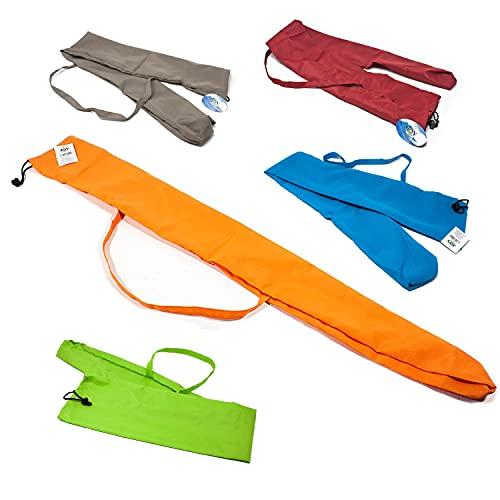 Si.trade s.r.l. Funda para sombrilla de playa, bolsa de poliéster en 5 colores diferentes 41204. Atención: después de la compra, comunique su color preferido