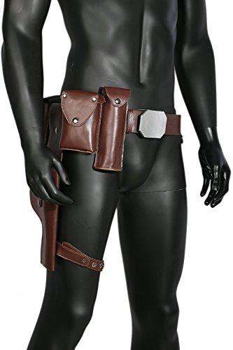 Wellgift Halloween Luke Gürtel mit Taschen & Pistolenholster Replik Einstellbare Cosplay Kostüm Kleid Kleidung Zubehör für Erwachsene