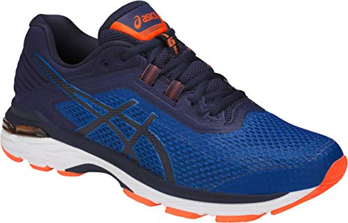 ASICS GT-2000 6 Men's Running Shoe, Imperial/Indigo Blue/Shocking Orange, 6.5 M US