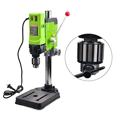Read About QWERTOUY 1050W Mini Drill Press Drilling Machine Speed 3-16mm High Speed for Wood Metal D...