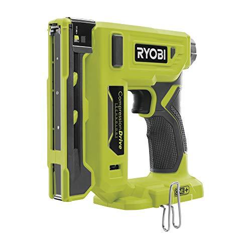 Ryobi Grapadora R18ST50-0 (sin batería, para grapas de 6-14 mm, ancho de lomo: 10 mm, 18 V, ajuste de profundidad sin herramientas) 5133004496