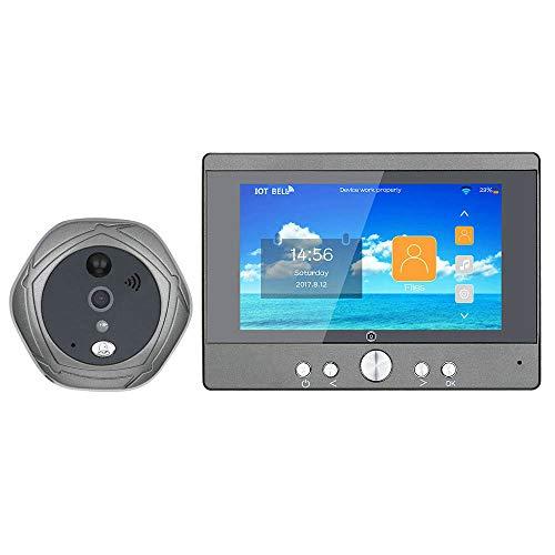 XINTONGSPP Doorbell, 720p WiFi Digital Peephole Door Viewer 5'Front Puerta Preghole Camera WiFi Timbre con intercomunicador o Tome la Imagen o Tome un Video
