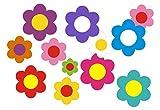 aufgeklebt.de Pegatina Adhesiva, diseño Floral: Mini Flowers 02-51 pcs