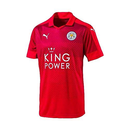 PUMA Auswärtstrikot 2016/2017, Leicester City-Maglia da Trasferta da Uomo, Colore: Rosso, M-48/50