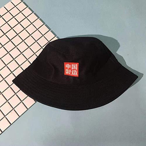 JXFM Fisherman hoed mannen en vrouwen wilde zonneklep kleine verse zachte zuster wastafel cap zwarte code