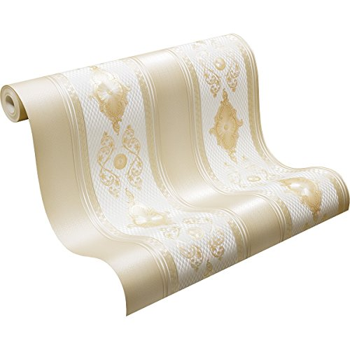 A.S. Création 6830-69 Concerto 3 Tapete, Beige, Metallic