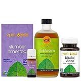 Fall Asleep Set (Blissful Sleep, Slumber Time Aroma Oil, Slumber Time Tea, Moisturizing Massage Oil)