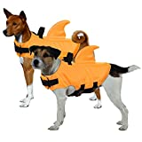 ASENKU Pet Life Jacket, Life Jacket for Dog, Ripstop Pet Floatation Vest Saver Swimsuit Preserver for Water Safety at The Pool, Beach, Boating (Orange, S)