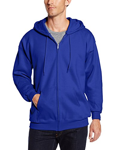 Hanes Men's Full Zip Ultimate Heavyweight Fleece Hoodie, Deep Royal, X-Large