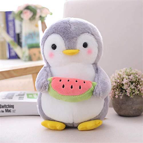 Nicole Knupfer Pinguin Stofftier Plüschtier, Pinguin Kuscheltier Tier Kissen Geschenk Für Kinder/Erwachsene (Pinguin mit Wassermelone,45 cm)