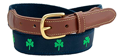 Leather Man Ltd Shamrock Long Tab Belt (40 (fits size 38 pant))